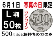 写真の日限定 L判1枚10円(50枚をワンコイン500円で)イメージ